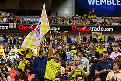 Oxford United fans cheer their team - Photo mandatory by-line: Jason Brown/JMP -  02/04//2017 - SPORT - Football - London - Wembley Stadium - Coventry City v Oxford United - Checkatrade Trophy Final