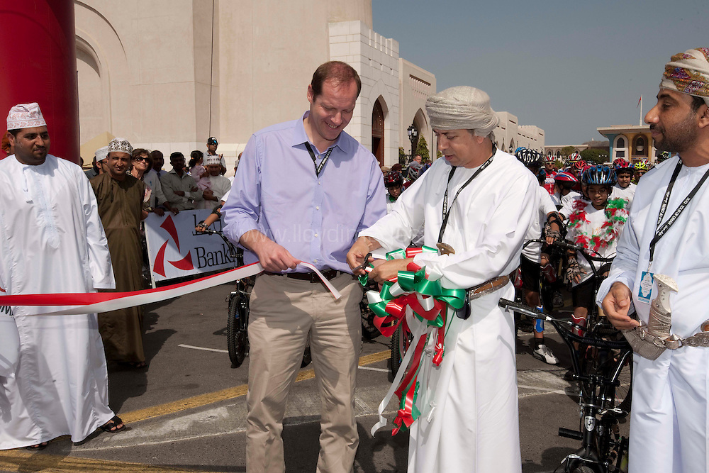 """Stage One Tour of Oman: .Picture shows;  H.E. Sultan bin Hamdoon Al Harthi, Head of Muscat Municipality..Winner of the Stage:.71 GREIPEL Andre - Lotto Belisol Team .Time 3hr25'59"""" .2nd place - Denis GALIMZYANOV  - KAT(Russia) - 3hr26'03"""".3rd place - Tyler FARRAR - GRM  (USA) - 3hr26'05"""" .General Individual Time Classification (Red Jersey): .71 GREIPEL Andre - Lotto Belisol Team .Points Classifcation (Green Jersey):.71 GREIPEL Andre - Lotto Belisol Team .Young Rider Classification (White Jersey):-.32 GALIMZYANOV Denis - Katusha Team .Most Aggressive Rider Classification .143 LEMAIR Alexandre - Bridgestone Anchor .© Mark Lloyd images  Stage One Tour of Oman: .Winner of the Stage:.71 GREIPEL Andre - Lotto Belisol Team .Time 3hr25'59"""" .2nd place - Denis GALIMZYANOV  - KAT(Russia) - 3hr26'03"""".3rd place - Tyler FARRAR - GRM  (USA) - 3hr26'05"""" .General Individual Time Classification (Red Jersey): .71 GREIPEL Andre - Lotto Belisol Team .Points Classifcation (Green Jersey):.71 GREIPEL Andre - Lotto Belisol Team .Young Rider Classification (White Jersey):-.32 GALIMZYANOV Denis - Katusha Team .Most Aggressive Rider Classification .143 LEMAIR Alexandre - Bridgestone Anchor .© Mark Lloyd images"""