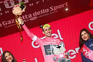 Podium Simon Yates (GBR - Mitchelton - Scott) pink leader jersey during the 101th Tour of Italy, Giro d'Italia 2018, stage 6, Caltanissetta - Etna 163 km on May 10, 2018 in Italy - Photo Luca Bettini / BettiniPhoto / ProSportsImages / DPPI