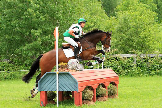 Kylie Lyman and Trading Aces at the Bromont Three Day Event in Bromont, Quebec, Canada.