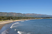 Santa Barbara Coastline with the Santa Ynez Mountains in the Background