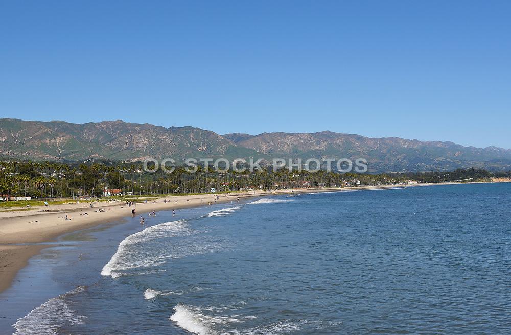 Santa Barbara Coastline with the Santa Ynez Mountains in the Background