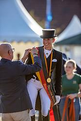 BREDOW-WERNDL Jessica von (GER)<br /> Siegerehrung/Meisterehrung<br /> Deutsche Meisterschaft der Dressurreiter<br /> Klaus Rheinberger Memorial<br /> Nat. Dressurprüfung Kl. S**** - Grand Prix Special<br /> Balve Optimum - Deutsche Meisterschaft Dressur 2020<br /> 19. September2020<br /> © www.sportfotos-lafrentz.de/Stefan Lafrentz