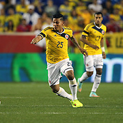Alexander Mejia, Colombia, in action during the Colombia Vs Canada friendly international football match at Red Bull Arena, Harrison, New Jersey. USA. 14th October 2014. Photo Tim Clayton