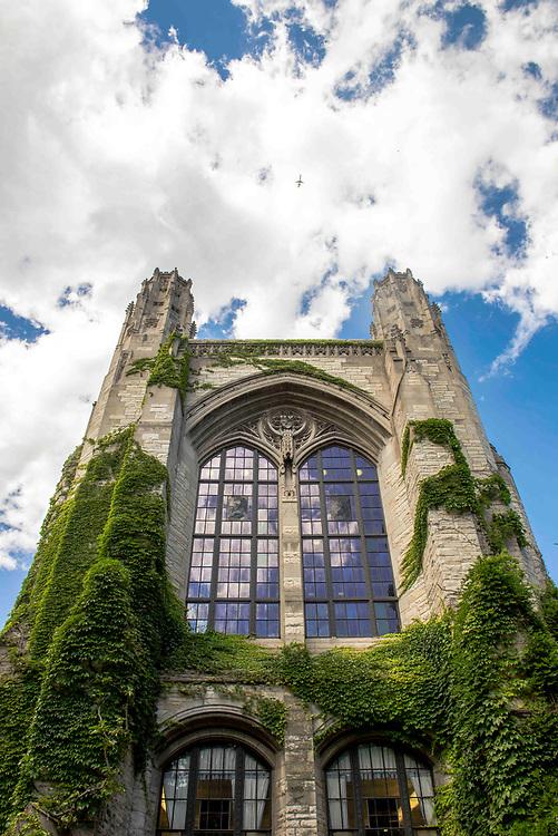 Northwestern University campus in Evanston during the summer of 2014