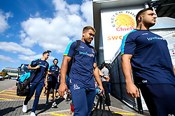 Ollie Lawrence of Worcester Warriors arrives at Sandy Park for the Premiership fixture against Exeter Chiefs - Mandatory by-line: Robbie Stephenson/JMP - 29/09/2018 - RUGBY - Sandy Park Stadium - Exeter, England - Exeter Chiefs v Worcester Warriors - Gallagher Premiership Rugby