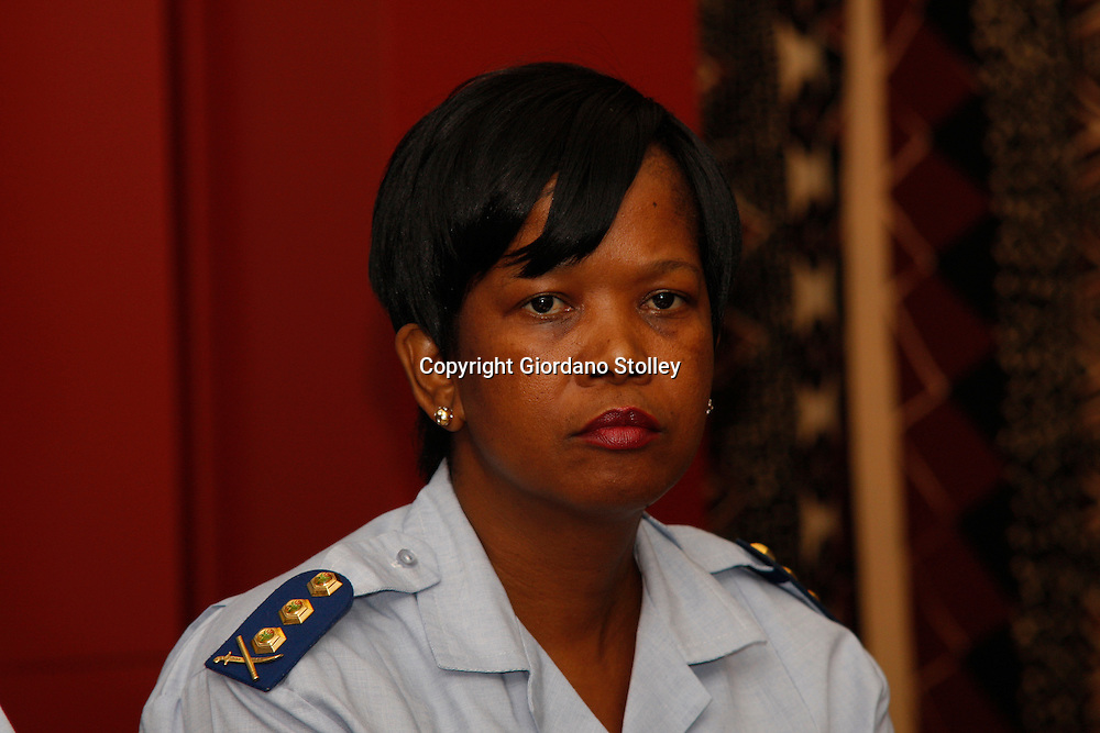 DURBAN - 7 February 2014 - Lieutenant General Betty Mmamonnye Ngobeni at a press conference in Durban where 1500 police station commanders attended a conference. Picture: Allied Picture Press/APP