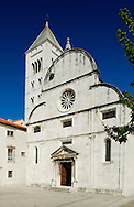 The 11th century church of St Mary (Sv Marija), with bell tower and 16th century Baroque facade, Zadar, Croatia