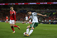 Stephen Ward of Republic of Ireland in action. Wales v Rep of Ireland , FIFA World Cup qualifier , European group D match at the Cardiff city Stadium in Cardiff , South Wales on Monday 9th October 2017. pic by Andrew Orchard, Andrew Orchard sports photography