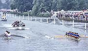 Henley on Thames,  United Kingdom, Grand Callenge Cup, Final [L] GBR M8+. winners1988 Henley Royal Regatta, Henley Reach, Thames Valley, British Summertime.<br /> [Mandatory Credit, Peter SPURRIER/Intersport Images] <br /> <br /> Scans from Positives, April 2019