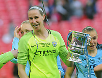 Football - 2017 Women's FA Cup Final - Birmingham City Ladies vs. Manchester City Women<br /> <br /> Man City goalkeeper Karen Bardsley with the trophy at Wembley.<br /> <br /> COLORSPORT/ANDREW COWIE