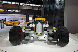 09 February 2017:  Chevrolet Batman Lego Batmobile<br /> <br /> First staged in 1901, the Chicago Auto Show is the largest auto show in North America and has been held more times than any other auto exposition on the continent.  It has been  presented by the Chicago Automobile Trade Association (CATA) since 1935.  It is held at McCormick Place, Chicago Illinois<br /> #CAS17