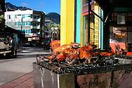 Roasted Guinea Pigs for sale  in Banos, Ecuador.