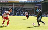 Photo: Steve Bond.<br />Walsall v Swansea City. Coca Cola League 1. 25/08/2007. Jason Scotland prepares to cut inside and shoot to score goal no2