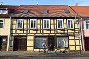 A street scene in Templin, a small but picturesque town in the Uckermark district of Brandenburg, Germany. .