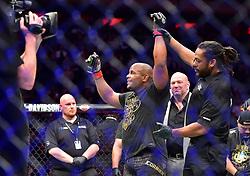 "Daniel ""DC"" Cormier (red gloves) vs. Derrick ""The Black Beast"" Lewis (blue gloves) during UFC 230 at Madison Square Garden."
