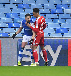 The altercation that led to the sending off of Sheffield Wednesday's Marco Matias