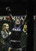 Kampfsport: MMA, We love MMA, Oberhausen, 31.01.2015<br /> Fran Vanderstrukken (Perfect Team Belgien) jubelt<br /> © Torsten Helmke