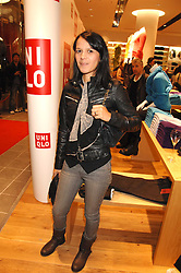 LISA MOORISH at a party to celebrate the opening of the new Uniqlo store at 331 Oxford Street, London W1 on 6th November 2007.<br />