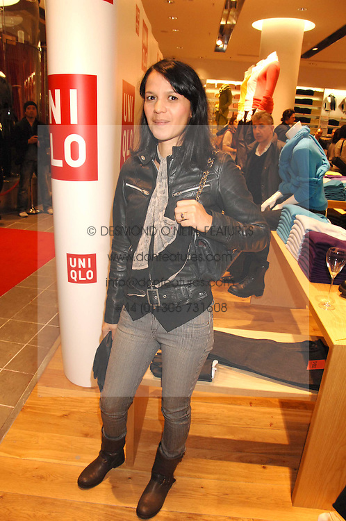 LISA MOORISH at a party to celebrate the opening of the new Uniqlo store at 331 Oxford Street, London W1 on 6th November 2007.<br /><br />NON EXCLUSIVE - WORLD RIGHTS