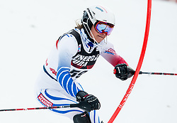 """Adriana Jelinkova (NED) competes during 1st Run of FIS Alpine Ski World Cup 2017/18 Ladies' Slalom race named """"Snow Queen Trophy 2018"""", on January 3, 2018 in Course Crveni Spust at Sljeme hill, Zagreb, Croatia. Photo by Vid Ponikvar / Sportida"""