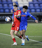 Football - 2020 / 2021 Sky Bet League Two - Colchester United vs Leyton Orient - JobServe Community Stadium<br /> <br /> Courtney Senior of Colchester and Conor Wilkinson of Orient <br /> <br /> COLORSPORT/ANDREW COWIE