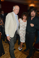 Left to right, SIR TIM RICE, FRANCES RUFFELLE and SIR TREVOR NUNN at a private performance by Frances Ruffelle entitled 'Paris Original' at The Crazy Coqs, Brasserie Zedel, 20 Sherwood Street, London on 8th October 2013.