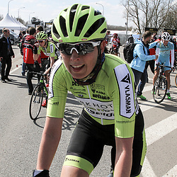 05-04-2015: Wielrennen: Ronde van Vlaanderen vrouwen: Belgie<br /> OUDENAARDE (BEL) cycling<br /> The 3th race in the UCI womens World Cup is the 12th edition of the Ronde van Vlaanderen. The race distance is 145 km with 12 Climbs and 5 zones of Cobbles.<br /> Marijn de Vries