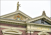Nederland, Zutphen, 17-1-2017Beeld van vrouwe justitia op het gebouw van de rechtbank.Foto: Flip Franssen