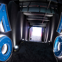 Player walk on tunnel at Rod Laver Arena on day one of the 2018 Australian Open in Melbourne, Australia on Monday January 15, 2018.<br /> (Ben Solomon/Tennis Australia)