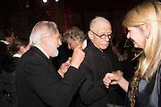 SIR DAVID PUTNAM; JOHN HURT; LADY PUTNAM, Luminous -Celebrating British Film and British Film Talent,  BFI gala dinner & auction. Guildhall. City of London. 6 October 2015.