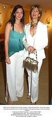MISS CELIA WEINSTOCK and her mother LAURA WEINSTOCK, she is the widow of Simon Weinstock son of  Lord Weinstock, at a gala evening on 10th June 2004.<br /> PWB 47