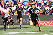 Tone Ng Shiu on his way to scoring during Day 3 of the HSBC World Rugby Sevens, Mens Semi Final match between New Zealand and Fiji, 2019, Spotless Stadium, Saturday 3rd February 2019. Copyright Photo: David Neilson / www.photosport.nz