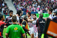 Altercation - 24.04.2015 - Stade Francais / Stade Toulousain - 23eme journee de Top 14<br />