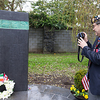 Ex veteran Terry Bohlinger who travelled all the way from America to attend the Memorial in Ennis to honour those who died in Vietnam War