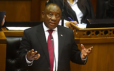 President Cyril Ramaphosa answering questions about land distribution in Parliament - 22 Aug 2018