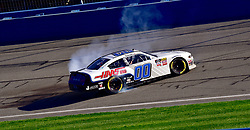 March 16, 2019 - Fontana, California, U.S. - FONTANA, CA - MARCH 16:  Winner of the race Cole Custer (00) Thompson Pipe/Haas Automation Ford burns his tires down at the NASCAR Xfinity Series  race on March 16, 2019 at Auto Club Speedway in Fontana, CA.  (Photo by Lyle Setter/Icon Sportswire) (Credit Image: © Lyle Setter/Icon SMI via ZUMA Press)