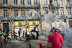 March 23, 2019 - Toulouse, Haute-Garonne, France - The town of Toulouse during the chapter 19 of the yellow vests (Credit Image: © Pierre Berthuel/Le Pictorium Agency via ZUMA Press)