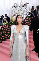 "Gemma Chan at the 2019 Costume Institute Benefit Gala celebrating the opening of ""Camp: Notes on Fashion"".<br />