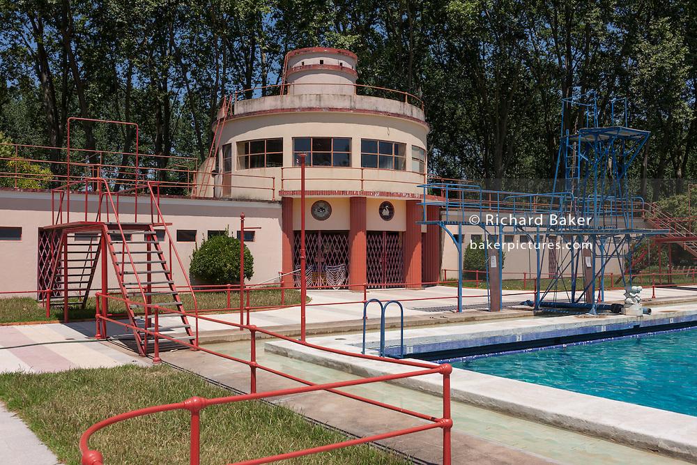 The Piscina-Praia Paraiso lido pool (1932) in the spa resort of Curia, Portugal.
