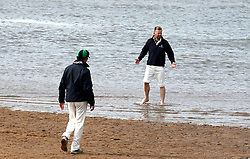 Embargoed to 0001 Monday August 28 A player stands on the boundary during a match between the Ship Inn Cricket Club and the Eccentric Flamingoes Cricket Club on Sunday April 30th, 2017, in front of the pub in Elie, Fife, which is the only one in Britain to have a cricket team with a pitch on the beach. The Ship Inn Cricket Club season runs from May to September with dates of matches dependent on the tides. Any Batsman who hits a six which lands in the Ship Inn beer garden wins their height in beer and any spectator who catches a six in the beer garden also wins their height in beer.