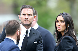 Frank Lampard and Christine Bleakley outside St Luke's and Christ Church, London, where the memorial service for former Chelsea player Ray Wilkins is being held. Wilkins, who began an impressive playing career at Stamford Bridge and also later coached them, died aged 61 following a cardiac arrest.