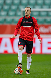 25.03.2016, Stadium Municipal, Wroclaw, POL, Training Fußballnationalmannschaft Polen, im Bild Kamil Grosicki // during a practice session of Polish national football team before tomorrow friendly match between Poland and Finland at the Stadium Municipal in Wroclaw, Poland on 2016/03/25. EXPA Pictures © 2016, PhotoCredit: EXPA/ Newspix/ Sebastian Borowski<br /> <br /> *****ATTENTION - for AUT, SLO, CRO, SRB, BIH, MAZ, TUR, SUI, SWE only*****