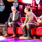 NLD/Hilversum/20130820- Najaarspresentatie RTL 2013, Jeroen Krabbe en zoon Martijn Krabbe, Erland Galjaard