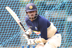 July 6, 2018 - Sri Lanka - Sri Lanka All-round cricketer Angelo Mathews bat at practice session in the R.Premadasa Stadium in Colombo on July 6, 2018. Sri lanka and South Africa will play two Tests, five 50-over One-Day Internationals (ODIs), and one T20 in Sri Lanka between July 12 and August 14. The first Test between South African and Sri Lanka will be played on July 12 at the Galle International Cricket Stadium in Galle. (Credit Image: © Lahiru Harshana/Pacific Press via ZUMA Wire)
