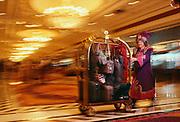 Taj Mahal bell hop in Atlantic City, New Jersey, an east coast gambling town.