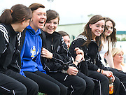 Sligo Girls supporting their fellow Sligo competitors  at the HSE Community Games National Finals 2010 in the AIT in Athlone. Photo:Andrew Downes