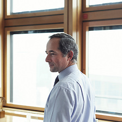PARIS LA DEFENSE. SEPTEMBER 2010, 28. Frederic Oudea, Societe Generale's CEO in his office. (photo by Antoine Doyen)
