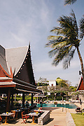 Public pool and restaurant at Chiva Som