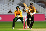Callum Parkinson of Leicestershire during the Vitality T20 Blast North Group match between Nottinghamshire County Cricket Club and Leicestershire County Cricket Club at Trent Bridge, Nottingham, United Kingdom on 4 September 2020.